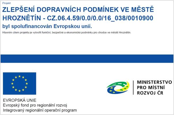 Zlepšení dopravních podmínek ve městě Hroznětín