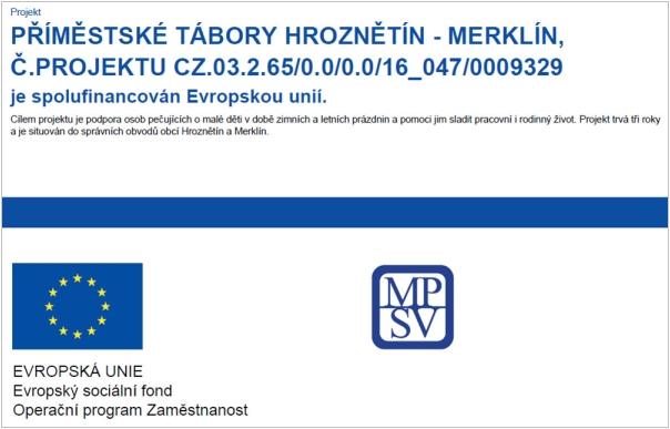 Příměstské tábory Hroznětín - Merklín
