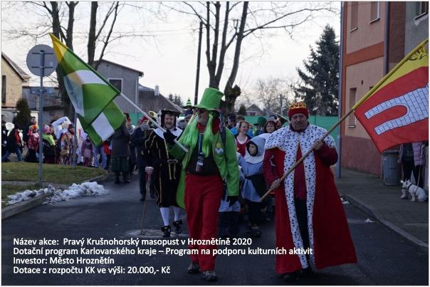 Pravý Krušnohorský masopust v Hroznětíně 2020